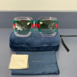 Authentic Gucci Square-Frame Acetate Sunglasses